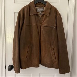 Wilson leather bomber bull Hyde distressed